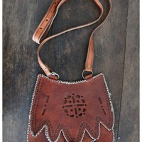 Treasure Blue - Tooled Moroccan Leather Bag