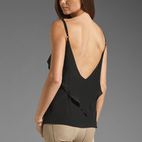 Karina Grimaldi Raffaela Solid Top in Black from REVOLVEclothing.com