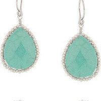 Chan Luu|Sterling silver and turquoise drop earrings|NET-A-PORTER.COM