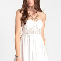 Innocence Lost Bustier Dress By Reverse - $62.00: ThreadSence, Women's Indie & Bohemian Clothing, Dresses, & Accessories