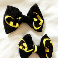 Batman Mini Bows (set of two)