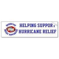 Hurricane relief supporter bumper stickers from Zazzle.com