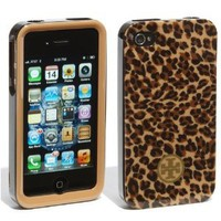 Tory Burch iPhone 4 4S Phone Case in Little LEOPARD for ATT Verizon: Cell Phones & Accessories