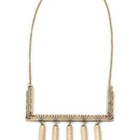 Vanessa Mooney The Labyrinth Necklace in Brass