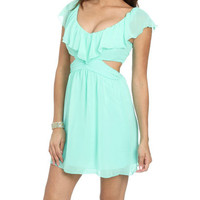 Ruffle Cutout Side Dress | Shop Dresses at Wet Seal