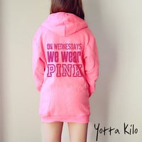 Unisex American Apparel Hoodies - On Wednesday we wear pink - Christmas gift