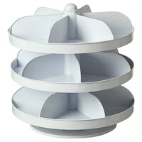 One Kings Lane - Winter on the Lake - Rotating 3-Tier Hardware Bin, White
