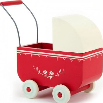 Splendid Avenue - Ilse Jacobsen, Odd Molly, Royal Copenhagen, Scandinavian, Home Decor — Wooden pram, Red