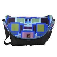 Geometric Jumble Courier Bag from Zazzle.com