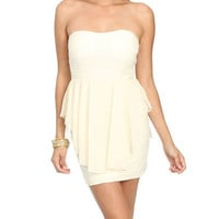 Sweetheart Chiffon Peplum Dress | Shop Dresses at Wet Seal