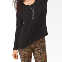 Relaxed Chiffon Panel Top