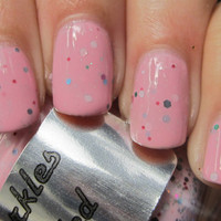 Pink Speckled : Custom-Blended Nail Polish Glitter Nail Polish