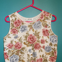 Vintage Floral Crop Top