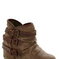 Buckle Down, Cowgirl Up Wedge | Mod Retro Vintage Boots | ModCloth.com