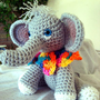 Hand-Crocheted Amigurumi Baby Elephant