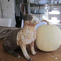 Antique cast iron garden rabbit