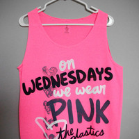 On Wednesdays We Wear Pink Tank Top (XS,S,L,XL)
