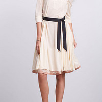 Flared Gauze Shirtdress