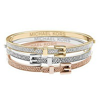 Michael Kors Pave Buckle Bangle Bracelet | Bloomingdale&#x27;s