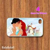 iPhone  4 case,iphone 5 Case-- Ariel and Eric, in durable plastic or rubber silicone case
