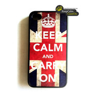 iPhone 4 Case, Hard Fitted Case For iphone 4 & iphone 4S. Vintage Keep Calm Carry On  Iphone Case
