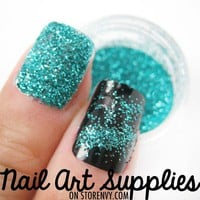 nailartsupplies | Aquamarine - Turquoise Blue Raw Nail Glitter Mix 3.5 Grams | Online Store Powered by Storenvy