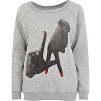 Grey To The Black graphic print sweatshirt