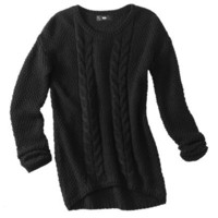 Mossimo Women&#x27;s Cable High-Low Pullover Sweater - Assorted Colors