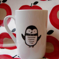 Penguin mug by MrTeacup by MrTeacup on Etsy