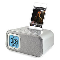 iHome iH22 Alarm Clock Speaker - Silver