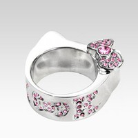shop.sanrio.com - Hello Kitty Die-Cut Ring: Pink Rhinestone - 7