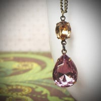 Rew Elliott: Pear Necklace Amethyst Topaz, at 22% off!