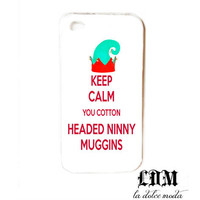COTTONHEADEDNINNYMUGGINS elf phone case iPhone 4 iPhone 4s iPhone 5 hard plastic christmas trendy funny