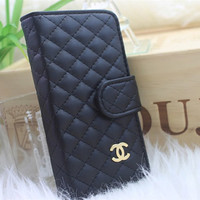 Custom leather wallet  iphone 5 case iphone 4 case iphone 4s case samsung case black white red pink blue brown