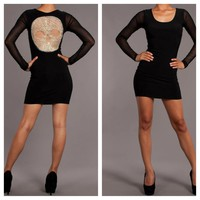 Rocker Chic Skull Mini Dress
