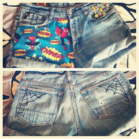 Spiderman Comic book MARVEL Spiderweb Shorts