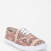 Gold Medallion Print Plimsoll Sneaker