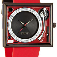 The Turntable Watch in Red Black : Karmaloop.com - Global Concrete Culture