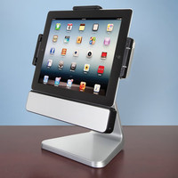 The Rotating iPad Speaker Dock - Hammacher Schlemmer
