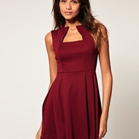 ASOS | ASOS Fit and Flare Dress with Square Neck at ASOS