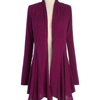 Leaf It for Later Cardigan in Magenta | Mod Retro Vintage Sweaters | ModCloth.com