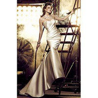 Bright Satin Sweetheart Neckline Elegant Wedding Gown Court Train - Cheap Wedding Dresses
