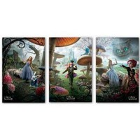 Amazon.com: Lot of 3 (Triptych) Alice in Wonderland Movie Posters Prints - 22x34: Home &amp; Garden