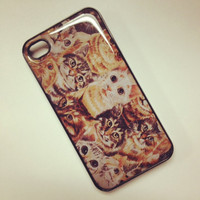 Cat overload feline animal Iphone case cover skin for Iphone 4 and 4s