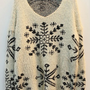 OASAP - Snowflake Print V-neck Sweater - Street Fashion Store