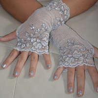 Angel White Lace Arm Warmers (short)
