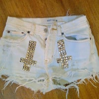 Studded Highwaisted Shorts (Made to Order)