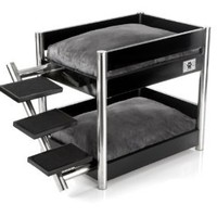 Amazon.com: LazyBonezz Metropolitan Pet Bunk-Bed, Ebony: Pet Supplies
