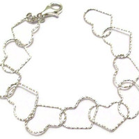 Heart Bracelet Sterling Silver Jewelry