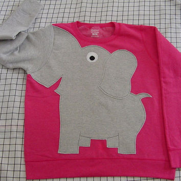 Elephant Trunk sleeve sweatshirt sweater jumper LADIES S Bright PInk